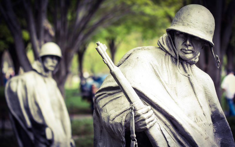 Korean War Memorial in D.C., Shutterstock