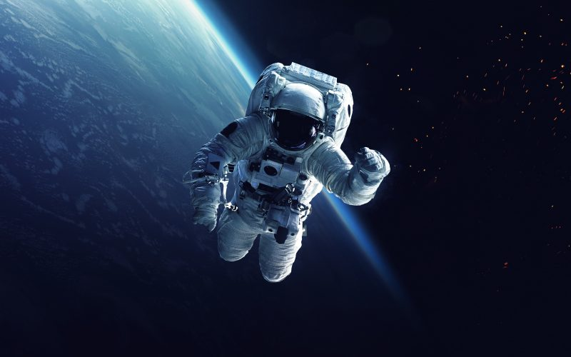 astronaut in outer space observe sky as - photo #25