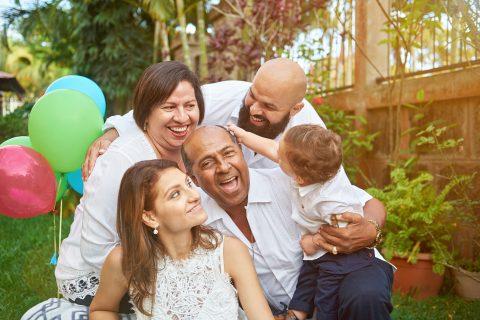 A multigenerational Latino family