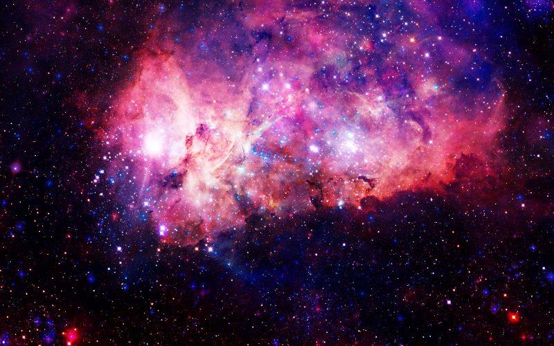 A photograph of the cosmos