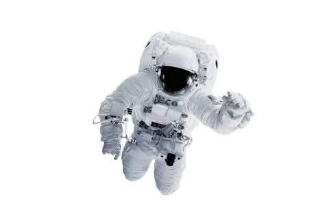 A picture of an astronaut floating in space.