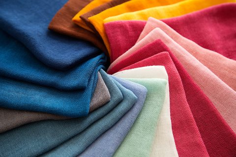 An array of colorful fabrics