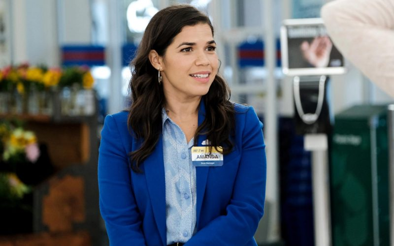 "America Ferrera in a scene from the NBC show ""Superstore"""