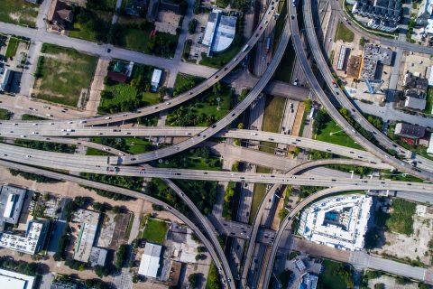 Highways interstate in Houston, Texas.