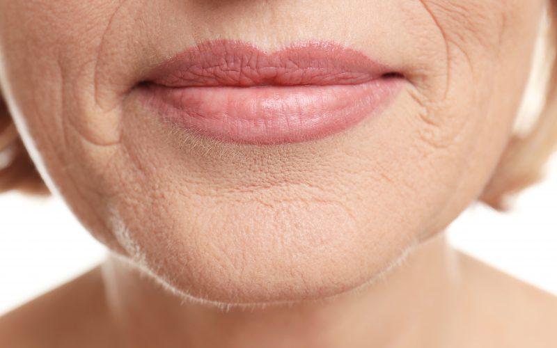 A closeup of a woman's face.
