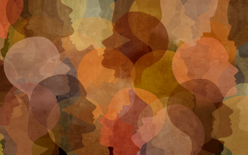 Photo illustration of people's diverse faces.