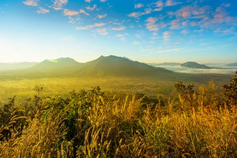 Photo of Fog over Phu Thok Mountain at Chiang Khan ,Loei Province in Thailand. B
