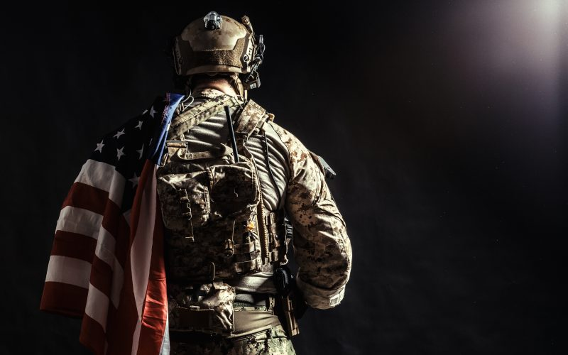 Photo illustration of a soldier.